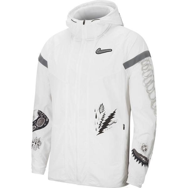 ナイキ メンズ ジャケット&ブルゾン アウター Wild Run WR Jacket - Men's White/Reflective Silver
