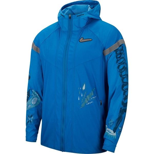 ナイキ メンズ ジャケット&ブルゾン アウター Wild Run WR Jacket - Men's Battle Blue/Reflective Silver