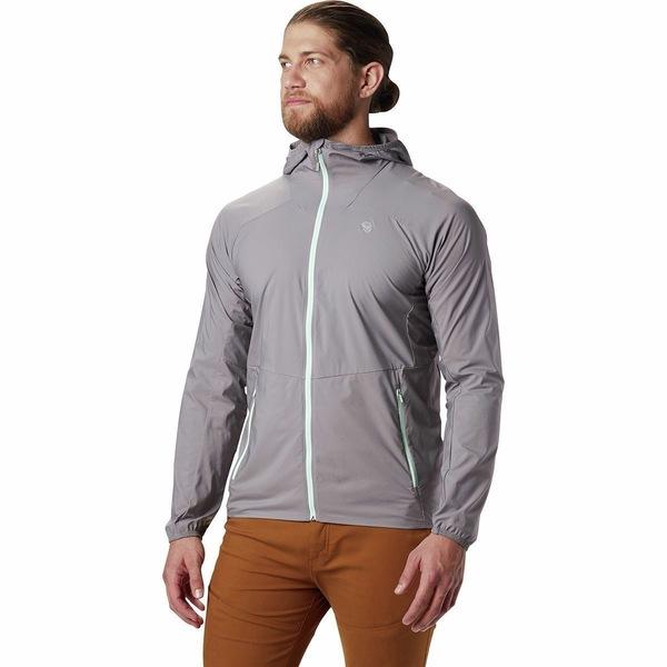 マウンテンハードウェア メンズ ジャケット&ブルゾン アウター Kor Preshell Hooded Jacket - Men's Manta Grey