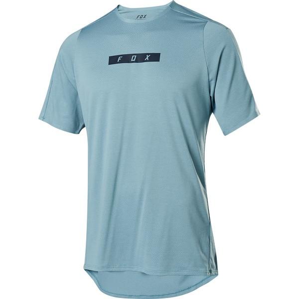 フォックスレーシング メンズ サイクリング スポーツ Flexair Delta Short-Sleeve Jersey - Men's Light Blue