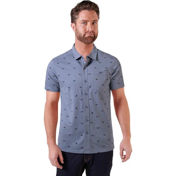 マウンテンカーキス メンズ シャツ トップス Lobo Short-Sleeve Shirt - Men's Smoke