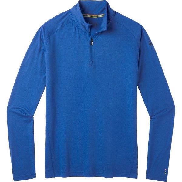 スマートウール メンズ Tシャツ トップス Merino 150 1/4-Zip Baselayer - Men's Light Alpine Blue