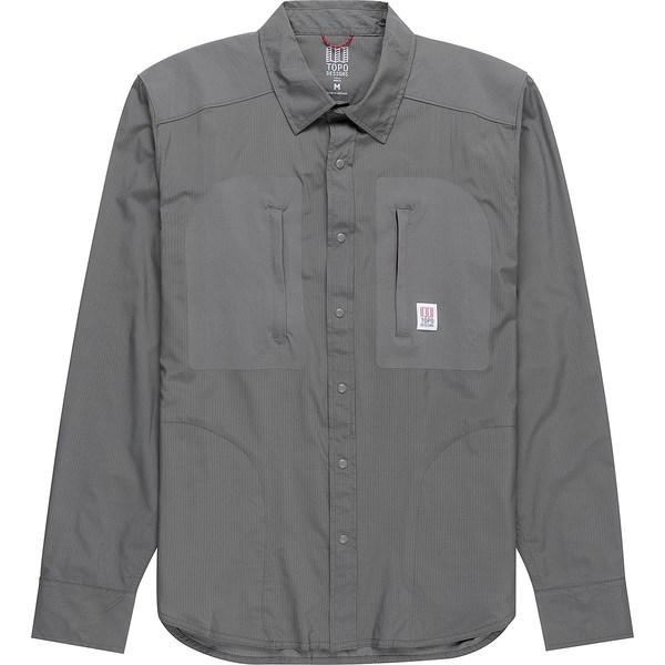 トポ・デザイン メンズ シャツ トップス Tech Long-Sleeve Shirt - Men's Slate