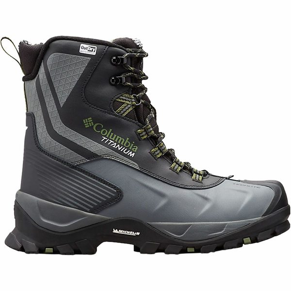 コロンビア メンズ ブーツ&レインブーツ シューズ Powderhouse Titanium Omni-Heat 3D Outdry Winter Boot - Men's Black/Mosstone