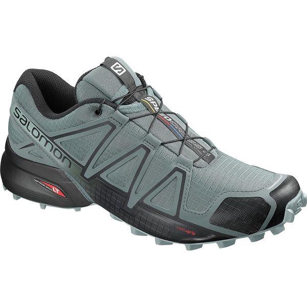 サロモン メンズ スニーカー シューズ Speedcross 4 Trail Running Shoe - Men's Stormy Weather/Black/Stormy Weather
