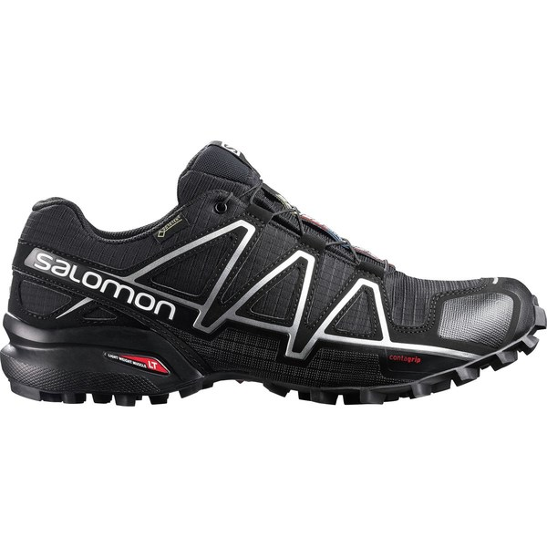 サロモン メンズ スニーカー シューズ Speedcross 4 GTX Trail Running Shoe - Men's Black/Black/Silver Metallic-x