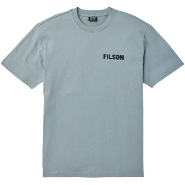 フィルソン メンズ Tシャツ トップス Outfitter Graphic T-Shirt - Men's Sage Gray