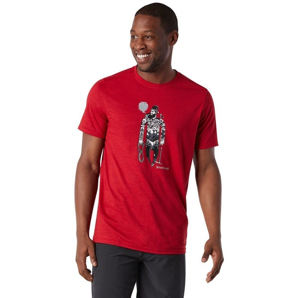 スマートウール メンズ シャツ トップス Merino Sport 150 Game of Ghosts T-Shirt - Men's Chili Pepper Heather