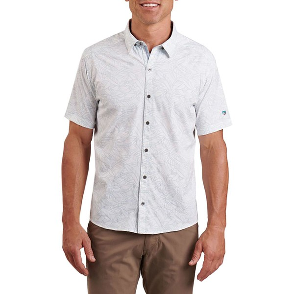 キュール メンズ シャツ トップス Repose Short-Sleeve Shirt - Men's Sea Salt
