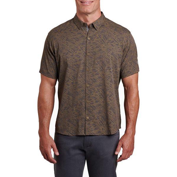キュール メンズ シャツ トップス Repose Short-Sleeve Shirt - Men's Toasted Pecan