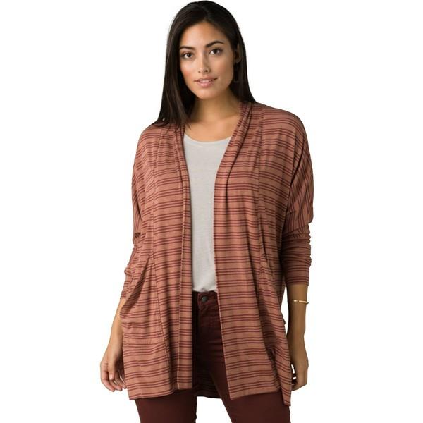 プラーナ レディース ニット&セーター アウター Foundation Wrap Sweater - Women's Vino Heather Stripe
