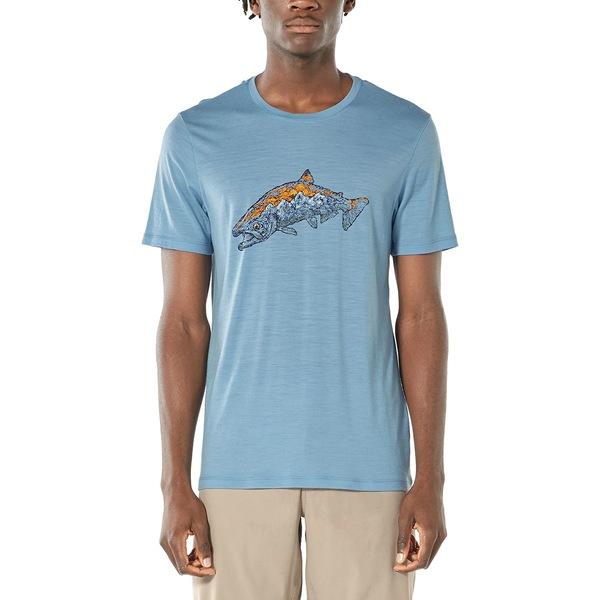 アイスブレーカー メンズ シャツ トップス Tech Lite Short-Sleeve Crew Tetons Salmon Shirt - Men's Waterfall