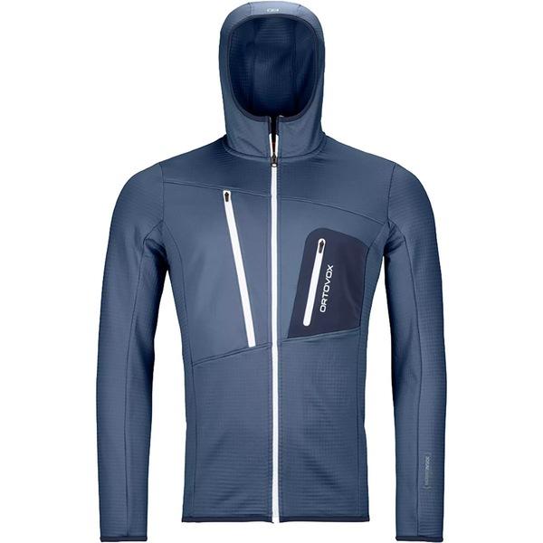 オルトボックス メンズ ジャケット&ブルゾン アウター Merino Fleece Grid Hooded Jacket - Men's Night Blue