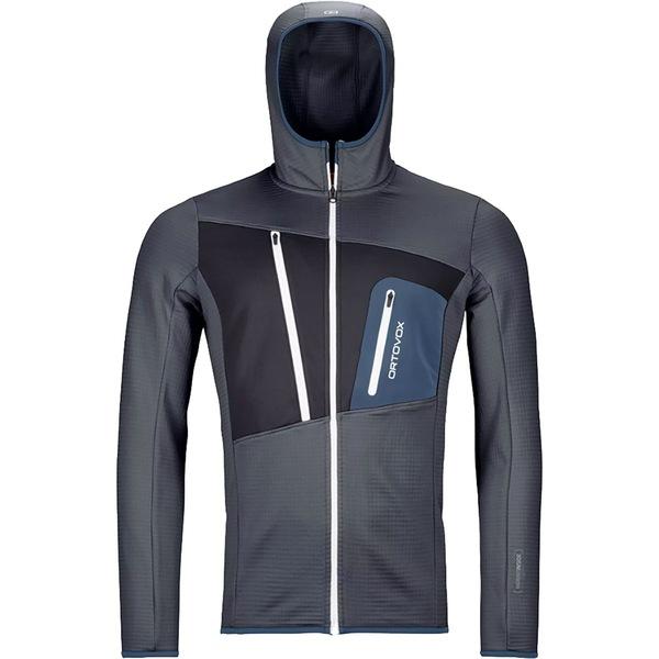 オルトボックス メンズ ジャケット&ブルゾン アウター Merino Fleece Grid Hooded Jacket - Men's Black Steel