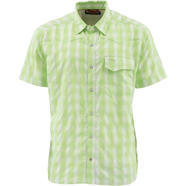 シムズ メンズ シャツ トップス Big Sky Short-Sleeve Shirt - Men's Key Lime Plaid