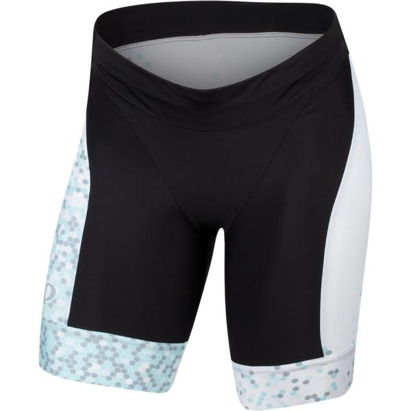 パールイズミ レディース フィットネス スポーツ Elite Graphic Tri Short - Women's White/Air Hex