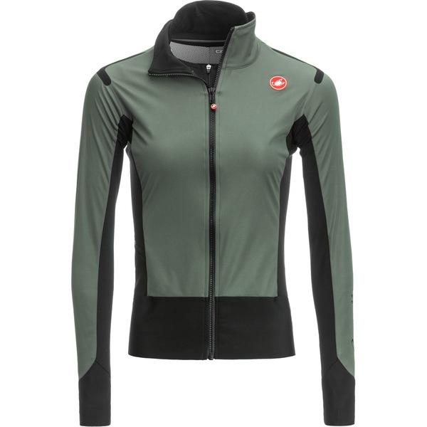 カステリ レディース サイクリング スポーツ Alpha RoS Light Limited Edition Jacket - Women's Forest Gray/Black