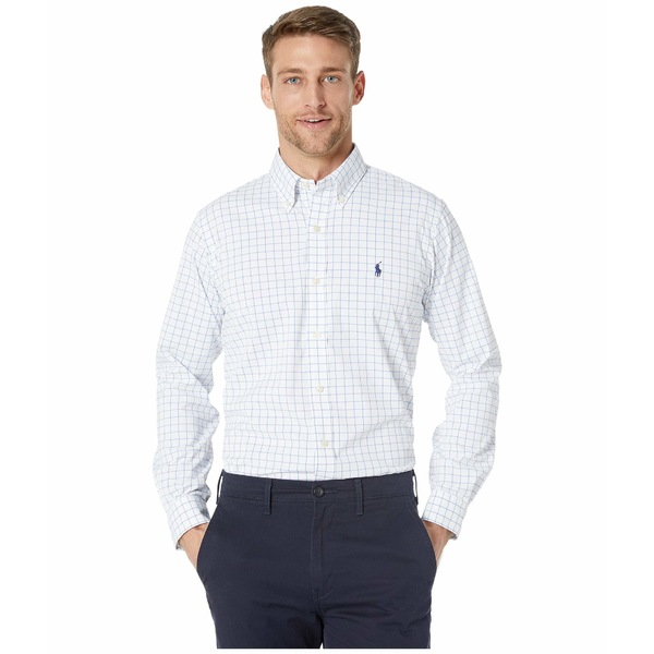 ラルフローレン メンズ シャツ トップス Classic Fit Performance Shirt White