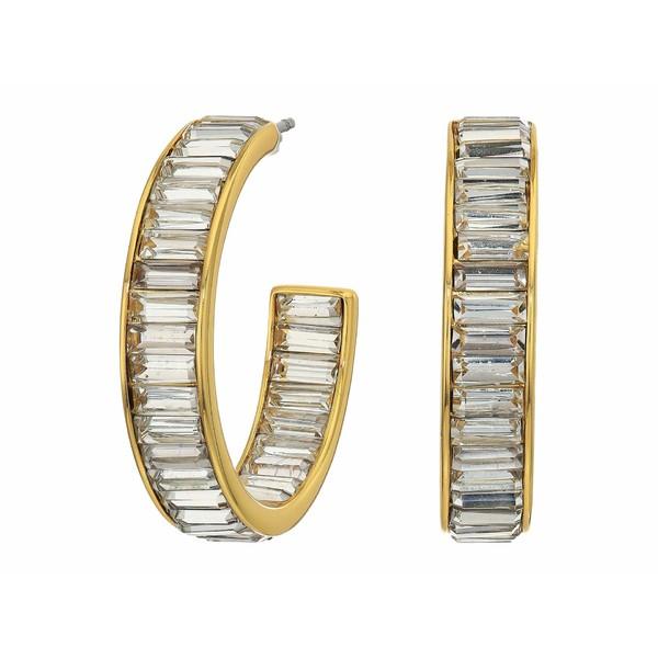 ジェイクルー レディース ピアス&イヤリング アクセサリー Illy Baguette Hoop Earrings Crystal