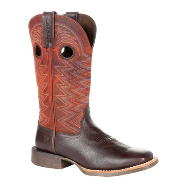 ヂュランゴ レディース ブーツ&レインブーツ シューズ DRD0355 Lady Rebel Pro Western Boot Dark Chestnut/Crimson Full Grain Leather