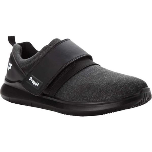 プロペット メンズ スニーカー シューズ Viator Mod Monk Sneaker All Black Microfiber Jersey Knit