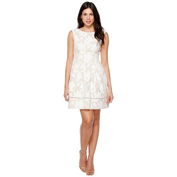 ヴィンスカムート レディース ワンピース トップス Novelty Lace Fit and Flare Dress Ivory