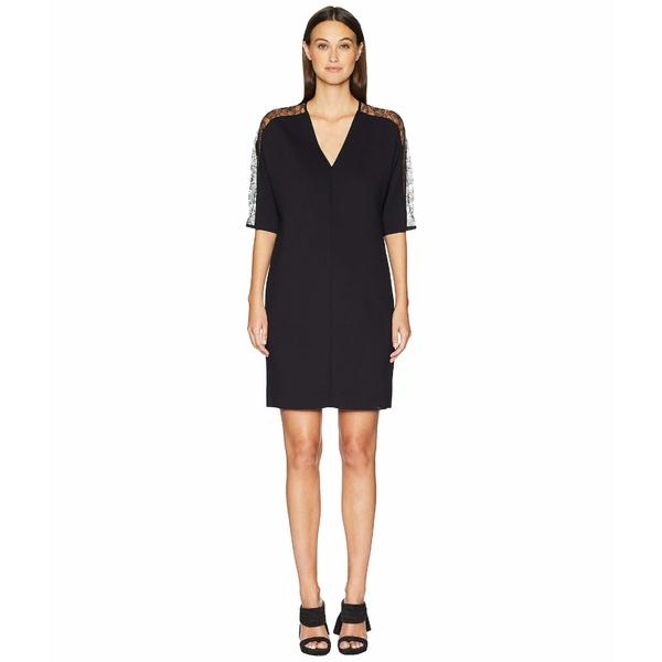 エスカーダ レディース ワンピース ワンピース トップス Dalacenas レディース Lace Inset Short Sleeve Black Dress Black, 追分町:8faa3625 --- officewill.xsrv.jp