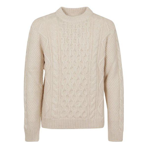 アラヌイ メンズ ニット&セーター アウター Alanui Fisherman Round Neck Sweater Lapponia Wh -