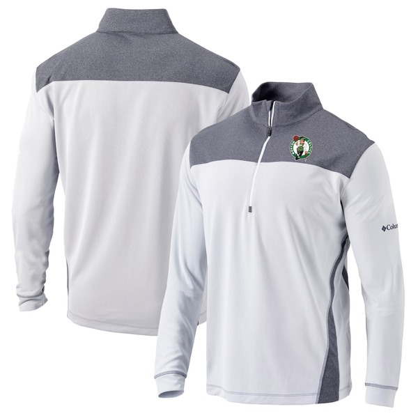 コロンビア メンズ ジャケット&ブルゾン アウター Boston Celtics Columbia Omni-Wick Standard Quarter-Zip Pullover Jacket White