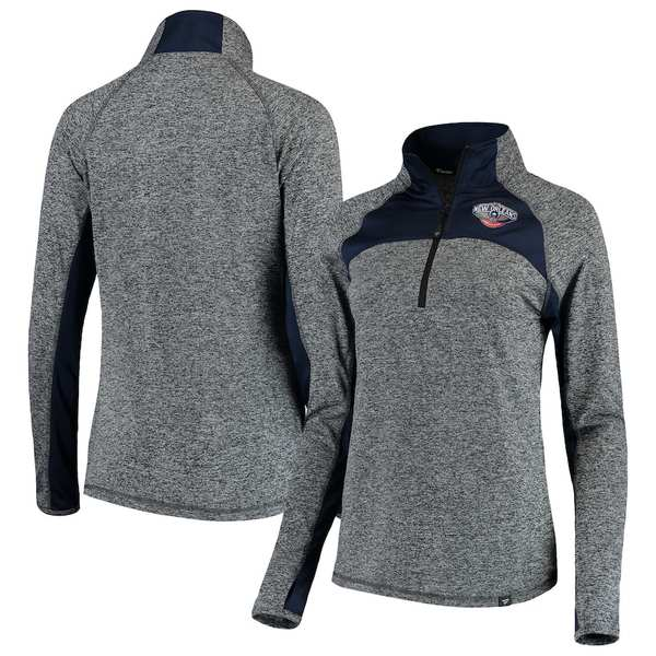 ファナティクス レディース ジャケット&ブルゾン アウター New Orleans Pelicans Fanatics Branded Women's Static Quarter-Zip Pullover Jacket Heathered Gray