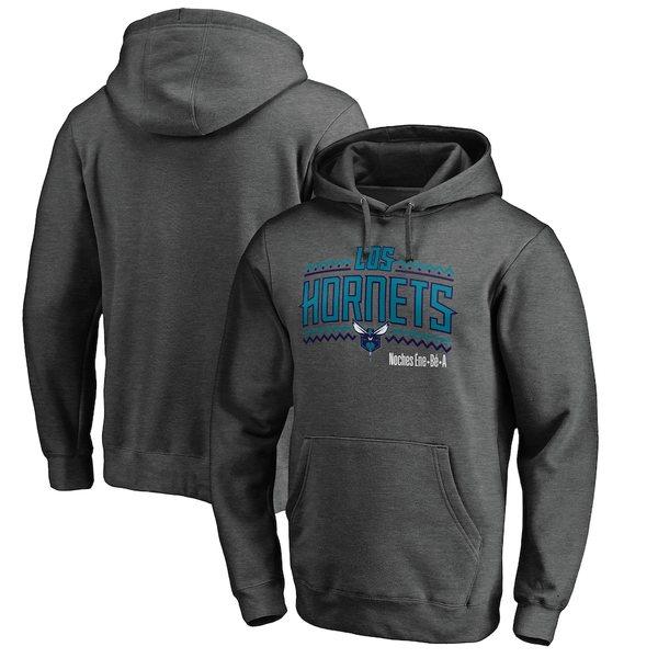 ファナティクス メンズ パーカー・スウェットシャツ アウター Charlotte Hornets Fanatics Branded Noches Ene-Be-A Pullover Hoodie Heather Gray