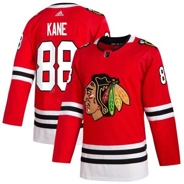 アディダス メンズ シャツ トップス Patrick Kane Chicago Blackhawks adidas Home Authentic Player Jersey Red