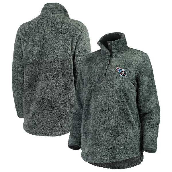 コンセプトスポーツ レディース ジャケット&ブルゾン アウター Tennessee Titans Concepts Sport Women's Trifecta Snap-Up Jacket Charcoal