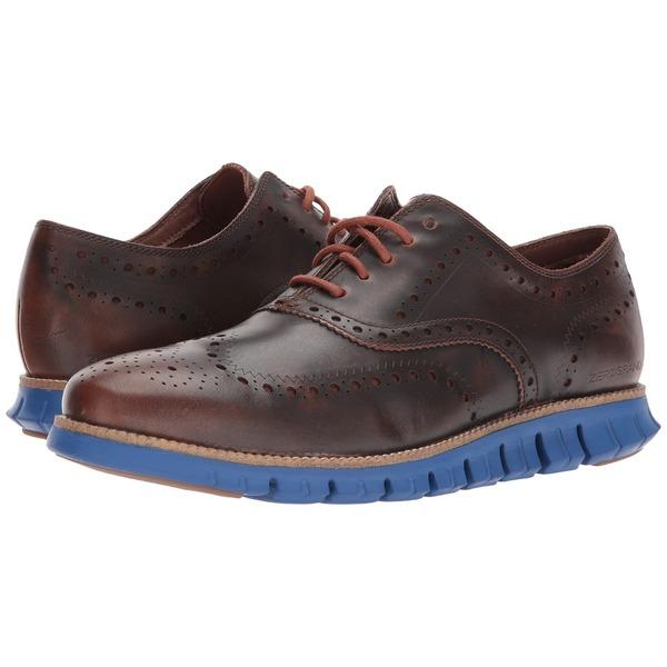 コールハーン メンズ ドレスシューズ シューズ ZeroGrand Wing Ox Leather Woodbury/Limoges Blue