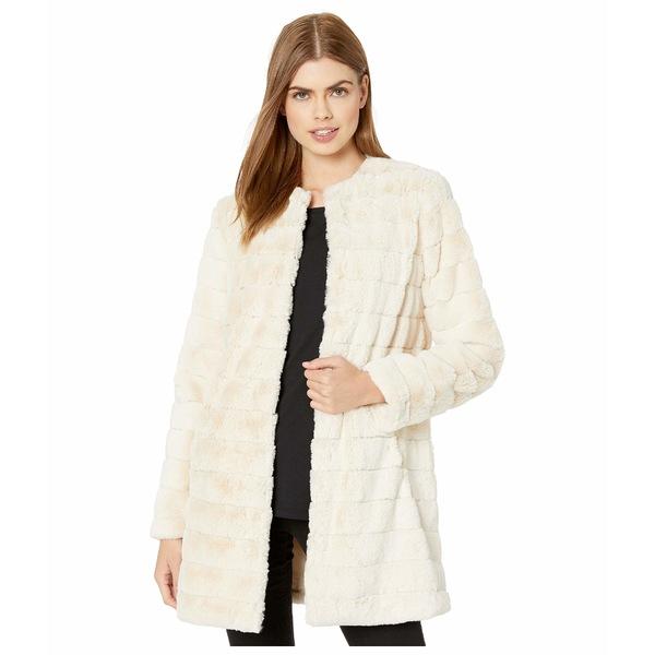 ビービーダコタ レディース コート アウター Anything For You Grooved Faux Fur Coat Ivory