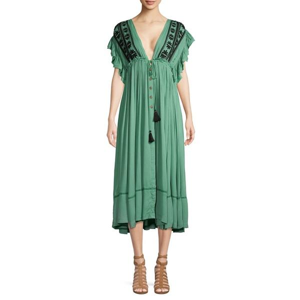 フリーピープル レディース ワンピース トップス Will Wait For You Midi Dress Turquoise