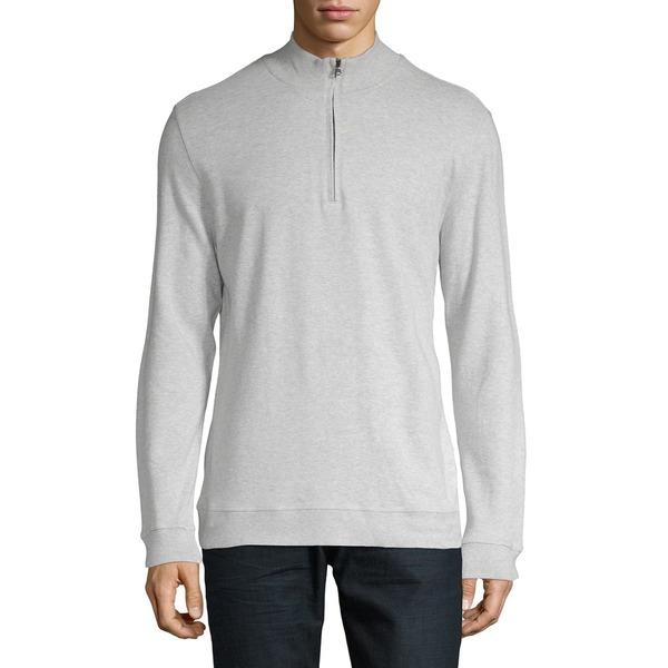 ブラック・ブラウン1826 メンズ ニット&セーター アウター Mockneck Heathered Sweatshirt Granite Heather