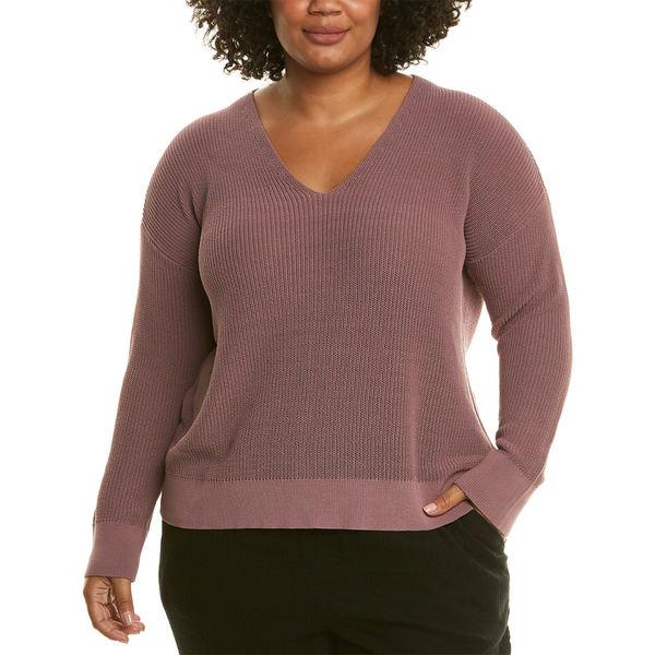 熱販売 エイリーンフィッシャー レディース シャツ トップス Eileen Fisher Plus Ribbed Sweater mauve, オオノシ 14299a67
