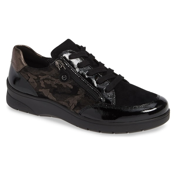 アラ レディース スニーカー シューズ ara Sloane Sneaker (Women) Black Patent Leather