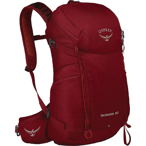 オスプレー メンズ バックパック・リュックサック バッグ Osprey Skarab 30 Backpack Mystic Red