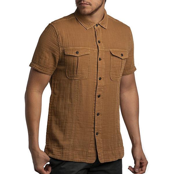 ジェレミア メンズ シャツ トップス Jeremiah Men's Komo Pigment Double Cloth Top Pecan