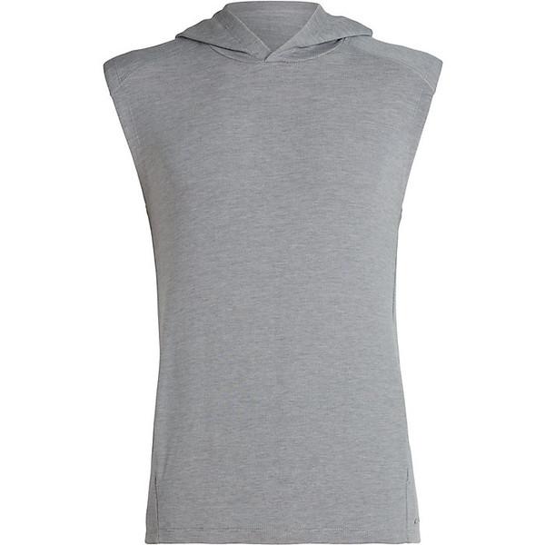 アイスブレーカー メンズ ジャケット&ブルゾン アウター Icebreaker Men's Momentum Hooded Vest Fossil / Snow Heather