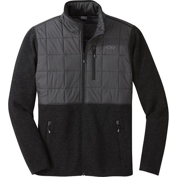 アウトドアリサーチ メンズ ジャケット&ブルゾン アウター Outdoor Research Men's Vashon Hybrid Full Zip Top Black Heather