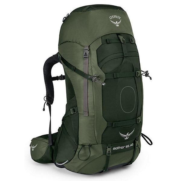 オスプレー メンズ バックパック・リュックサック バッグ Osprey Men's Aether AG 85 Pack Adirondack Green