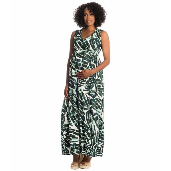 エベリーグレイ レディース ワンピース トップス Valeria Maternity/Nursing Dress Palm