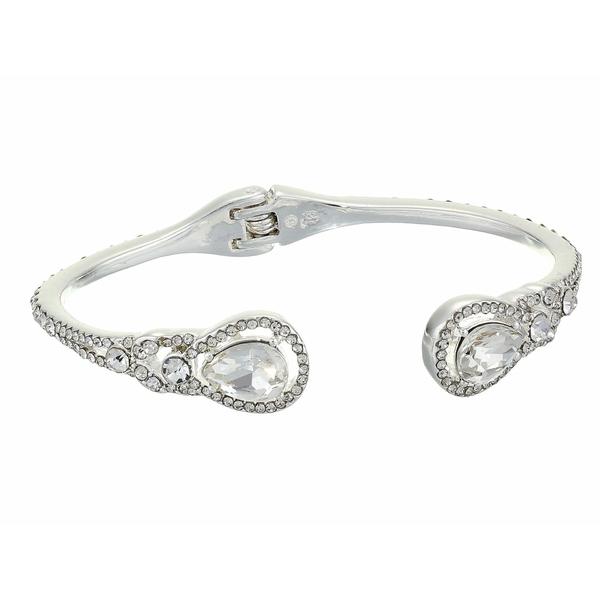 ラルフローレン レディース ブレスレット・バングル・アンクレット アクセサリー Pave Teardrop Hinge Cuff Bracelet Silver