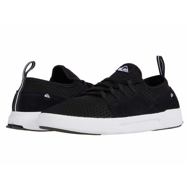クイックシルバー メンズ スニーカー シューズ Summer Stretch Knit Shoes Black/Black/White