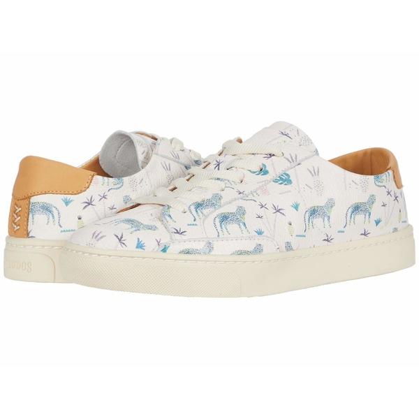 ソルドス レディース スニーカー シューズ Blue Leopard Sneaker White