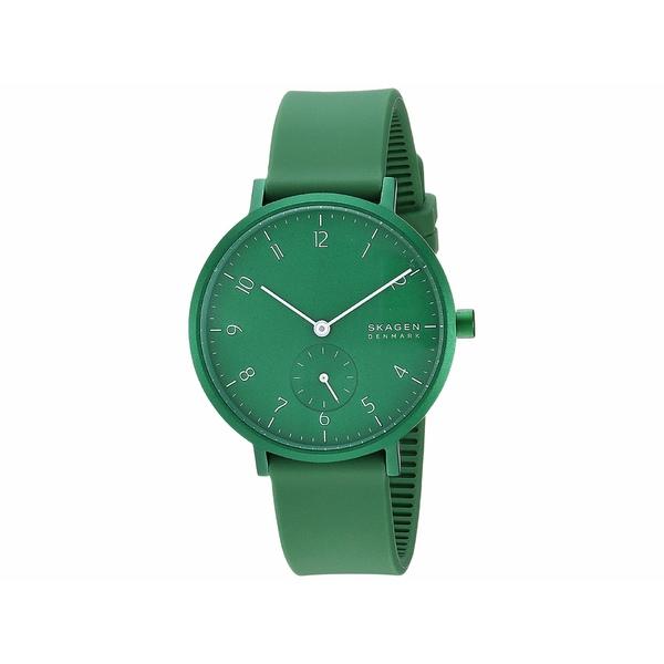 スカーゲン レディース 腕時計 アクセサリー Aaren Kulor 36mm Three-Hand Silicone Watch SKW2804 Green Silicone