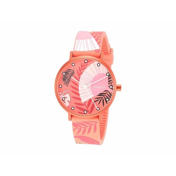 スカーゲン レディース 腕時計 アクセサリー Aaren Kulor 36mm Three-Hand Silicone Watch SKW2859 Coral Floral Print Silicone